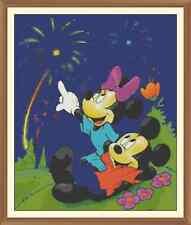 Minnie & Mickey Mouse Disney Art cross stitch chart 9.9 x 12.0 in (ca. 30.48 cm)