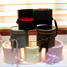 Cylindrical Packaging Flower Box Paper Double-layers Rotating Bucket Gift Supply