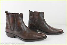 Bottines Boots PORTO LEONE Cuir Marron T 40 TBE