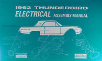 1962 Thunderbird Electrical Assembly Manual Wiring Diagrams 62 Ford T bird