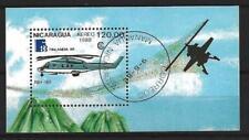 Avions Nicaragua (19) bloc oblitéré