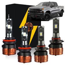 2019 2020 2021 Silverado 1500 WT Custom Trail Boss White LED Headlight Bulbs