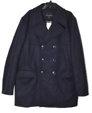 BANANA REPUBLIC Men's Navy Italian Melton Wool Peacoat Coat (Size XL) >NEW<