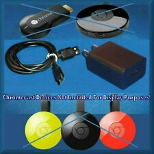 Power Supply Adapter + USB M Cable For Chromecast Audio Ultra + 1st 2nd 3rd GEN