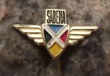 1963 Sabena Belgian National Carrier Airlines Wings Aviation Airliner Pin Badge