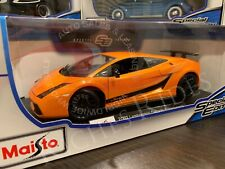 Maisto 1:18 Scale Diecast Model - 2007 Lamborghini Gallardo Superleggera (Orange