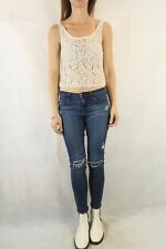 FOREVER NEW Beaded Lace Top Size 6
