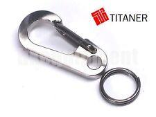 TITANER Titanium Carabiner Snap Hook Keyring Keychain Keyholder TC4 Ti S