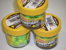 Berkley Powerbait Magnum Power Eggs 3 pack FEGLL Lemon Lime GARLIC Trout Bait