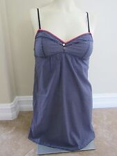 JUICY COUTURE Babydoll, Nightie, Blue Pattern, Adjustable, Size Small New w/Tag