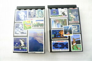2 Handmade Vintage US & Foreign BLUE Postage Stamp Notebooks Memopads