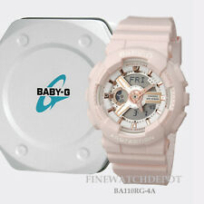 Authentic Casio Baby-G Women's Pink Ana-Digi Dual Display Watch BA110RG-4A
