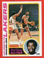 1978-79 Topps #110 Kareem Abdul-Jabbar NEAR MINT HOF Los Angeles Lakers FREE S/H