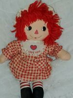 "Vintage Raggedy Ann Doll - Knickerbocker Bedtime I Love You 14"" Plush Doll"
