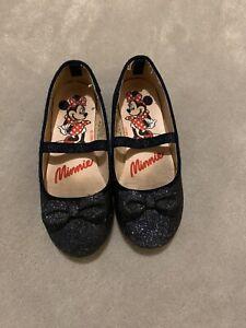 Girls H&M Disney Minnie Mouse Navy Blue Glitter Size EUR 28 Pumps Shoes