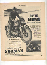 Norman B4 Speed Twin Motorcycle Original Advertisement from a Magazine Villiers