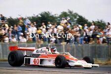 GILLES Villeneuve McLaren m23 di British Grand Prix 1977 fotografia 3