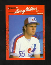 Larry Walker Rookie Card--Montreal Expos--1990 Donruss Baseball Card