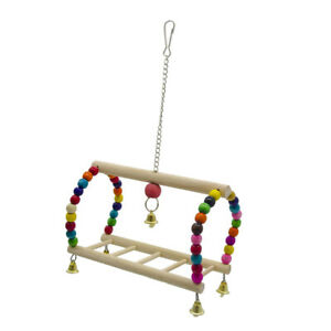 Parrot Cage Hanging Swings Toys Ladder Stand Hanger for