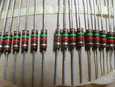 100x 1//2W-100R Widerstand Kohle THT 100Ω 0,5W ±5/% Ø3x9mm Ausg axial ROYAL OHM