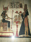 Antique Vintage Egyptian Wall Hanging Art of Egyptian subject on papyrus paper