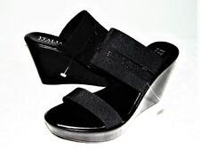 "ITALIAN SHOEMAKERS ""STEPH"" Black Wedge Sandals Shoe SIZE 10"