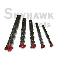 "5pc  Masonry Drill Bit Set 3/16"" to 1/2"" Carbide Tip-Concrete, Brick, &Tile"