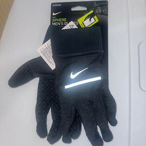 Nike Men's Sphere Running Gloves with Dri-Fit technology Heathered Grey iPhone