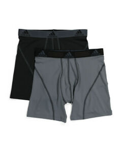 *NEW ADIDAS PERFORMANCE CLIMALITE Underwear Boxer Briefs Small - 2 Pack