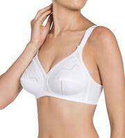 Women's Triumph Doreen Cotton Non-Wired Bra - White
