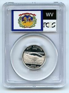 2005 S 25C Silver West Virginia Quarter PCGS PR70DCAM