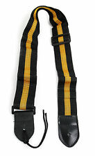 Black & Gold Stripe Universal Guitar Strap For Acoustic Electric Bass Classical