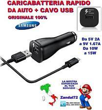 CARICA BATTERIA RAPIDO ORIGINALE SAMSUNG DA AUTO CAVO USB GALAXY J1 J3 J5 J7 J9