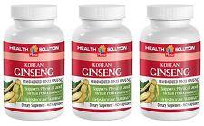 Enhance Mental Concentration - Korean Ginseng 350mg - Red Panax Ginseng 3B