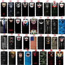 New Skull CLOWN Face Sun Scarf Balaclava Neck Tube Gaiter Bandana Neckerchief