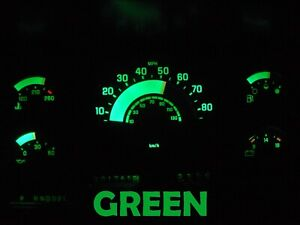 Gauge Cluster LED Dashboard Bulbs Green For Chevy GMC 88 91 C/K Series Truck