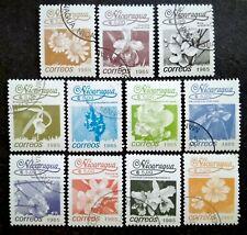 Nicaragua 1986 Flowers Loose Set - 11v Used