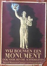 Affiche WIJ BOUWEN EEN MONUMENT Arthur Goldsteen 1948 *