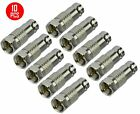 10 Pcs BNC Female to F Type Male Coax Coaxial Cable Connector Adapter Converter