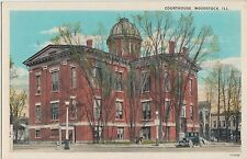Illinois Il Postcard Old Woodstock Court House Building