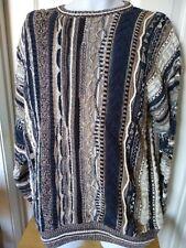VTG Notorious B.I.G Coogi Style Sweater RoundTree York Mens Sz L White Blue