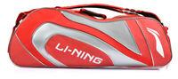 LI-NING Badminton Bag 3 Pack Red Racquet Backpack Racket Shuttlecock ABJP046-1