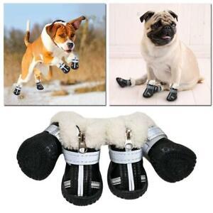 Pet Dog Shoes Boots Anti-slip Rain Footwear Thick Warm Waterproof