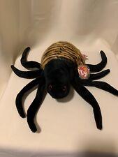 """Ty Beanie Buddy 12"""" SPINNER The Spider  MWMT  Retired Halloween Decoration 🕷"""