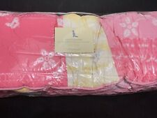 Pottery Barn Kids The Ashley Crib Bumper Pink Yellow White Flowers & Hearts