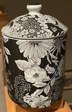Liberty of London for Target Black & White Floral Canister NEW!!