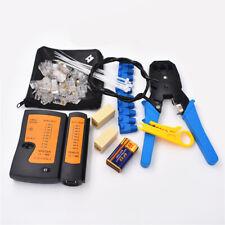 Rj45 Rj11 Network Crimper Crimping Tools Pliers Cutter Lan Cable Repair Set B7P8