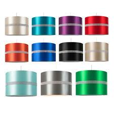 Modern Cotton Fabric Drum Diamante Lamp Shades Pendant Lampshades Home Lighting