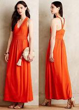 ANTHROPOLOGIE NWT Maeve Yuma Maxi Dress Halter Red Orange Sz 4 S Small $158