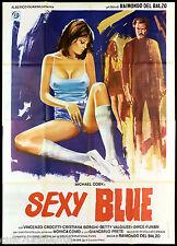SEXY BLUE - LA DOMENICA DEL DIAVOLO MANIFESTO CINEMA FILM 1979 MOVIE POSTER 4F